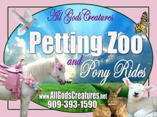 Petting Zoo Orange County Los Angeles Riverside San Bernardino